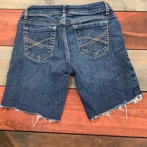 3 FOR $20 Aeropostale Cut Off Jean Shorts Size 3/4